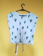 tshirt wiązany kaktusy koszulka