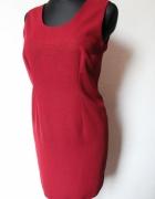 Bordowaprosta sukienka r L