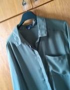 Khaki luźna koszula z kieszonką amisu s m l