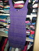 Sukienka tunika fioletowa