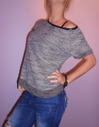 Bluzka ala sweterek Melanżowa