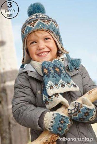 Komplet zimowy NEXT czapka szalik rękawiczki...