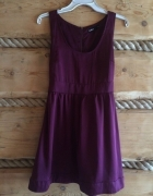Sukienka śliwkowa elegancka Cubus S wiązana...