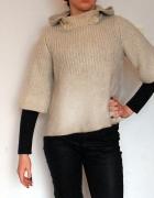 Sweter TopShop Alpaka krótki ciepły XS S M 38 beż