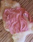 bluza sweter pudrowy brudny róż S M