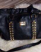 duża torba torebka pojemna skóra ekologiczna złote...
