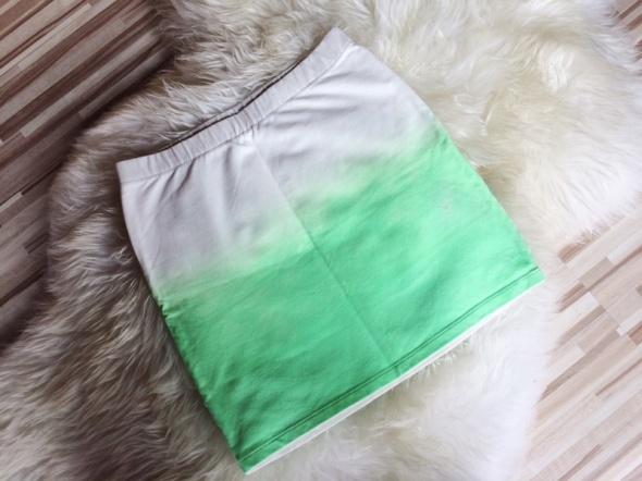 Spódnice spódnica spódniczka mini ombre biała neonowa