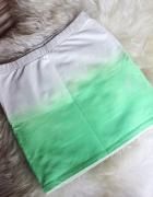 spódnica spódniczka mini ombre biała neonowa...