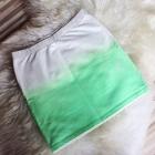 spódnica spódniczka mini ombre biała neonowa