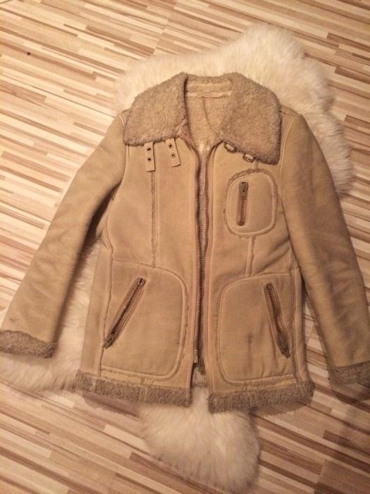 Odzież wierzchnia ciepły zimowy kożuch kożuszek L kurtka ramoneska