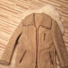 ciepły zimowy kożuch kożuszek L kurtka ramoneska