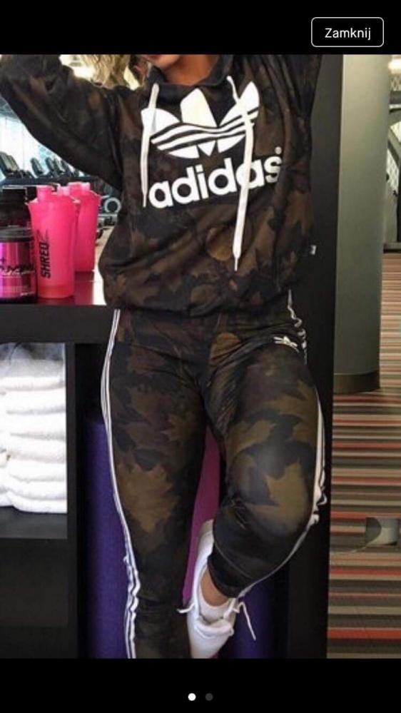 Adidas khaki liście moro...