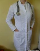 Biały fartuch medyczny damski 36 Apolonia