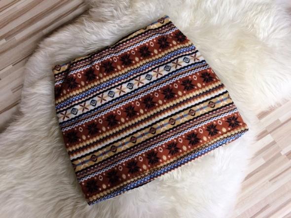 Spódnica spódniczka mini zimowe wzory XS S...