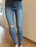 Spodnie z wysokim stanem H&M