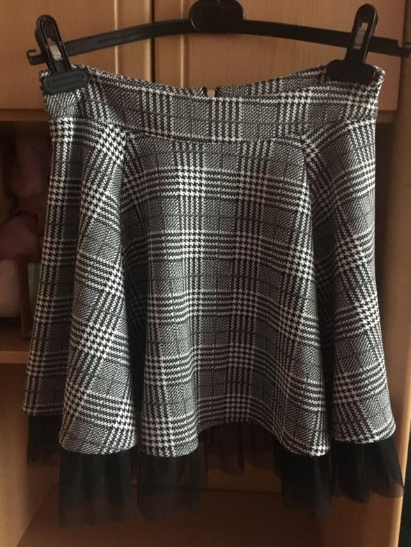 Spódnice Czarno biała spódniczka w kratkę
