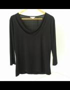 Czarna bluzka z lejącym dekoltem M&Co