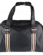 Czarna stylowa torba podróżna vintage retro