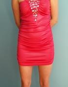 Sukienka satynowa Tally Weijl L różowa...