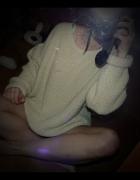 Ciepły gruby miękki sweter