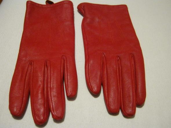 Rękawiczki Czerwone skórzane rekawiczki