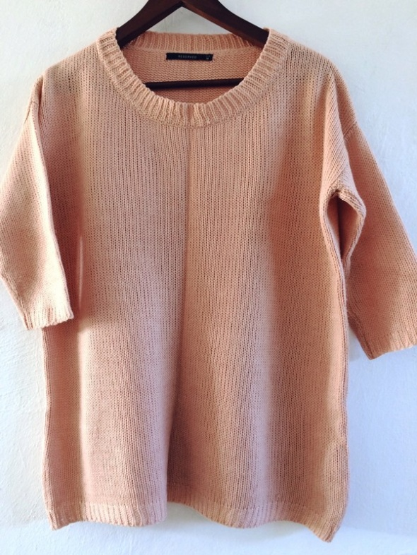 sweter bluzka nude beż oversize M L Reserved...