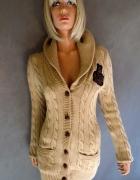 Sweter damski długi typu oversize Ralph Lauren M...