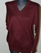 Sweter swetr Polo Ralph Lauren rozm XL bordowy...