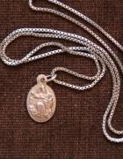 Łańcuszek z dwustronym medalikiem srebro 925