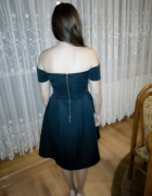 Sukienka piankowa ciemna zieleń