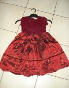 Piękna bordowa sukienka na 5 6 lat...