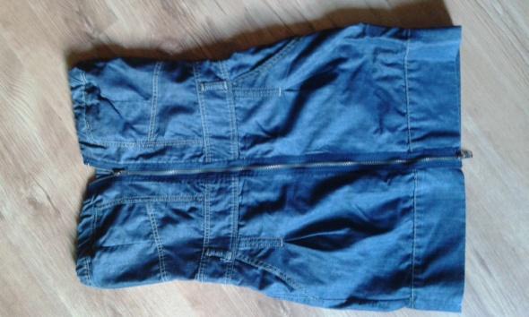 jeansowa krótka sukienka Troll...