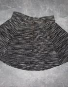 Extra rozkloszowana spódniczka H&M szary melanż M