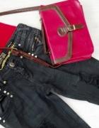 Spodnie jeansy przecierane