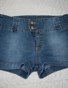 Krótkie dżinsowe spodenki szorty rozm 36