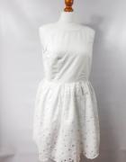 Sukienka bez rekawów bawełniana biała...