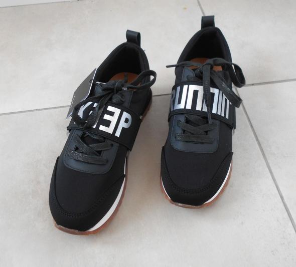 Zara nowe czarne adidasy buty sportowe napisy w Sportowe