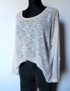 Kremowy ażurowy sweter r M...