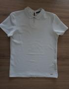 Biała bluzka z kołnierzykiem elegancka MohitoXS