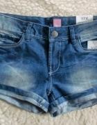 Jeans spodenki szorty nooowe