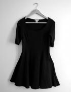czarna sukienka hm trend minimalizm cos...