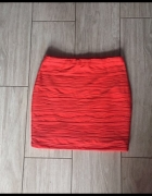 Piękna rypsowana spódniczka XS