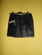 THE TREND HOUSE spódnica skóra czarna S 36 NOWA