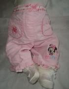 Disney różowe spodnie roz newborn...
