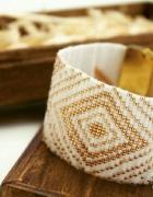 Biało złota bransoletka handmade...