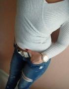 sweter szary hm...