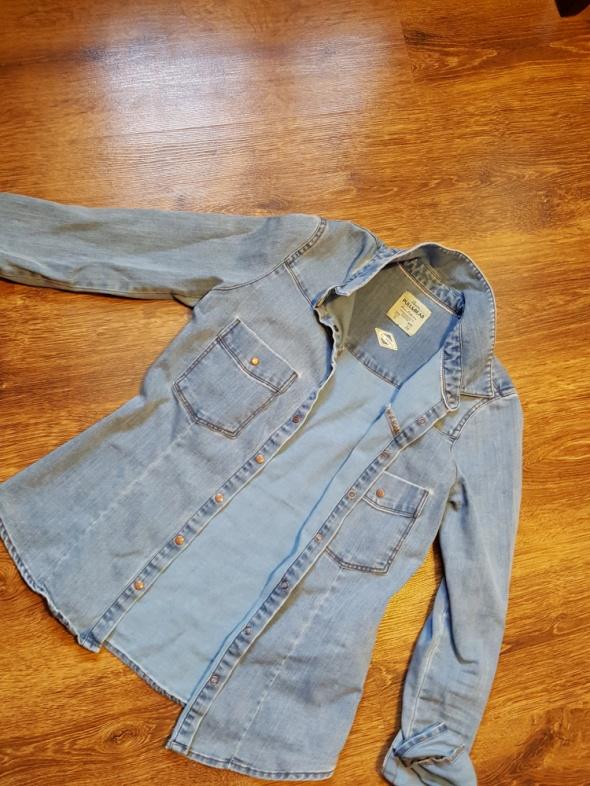 Jeansowa koszula pull and bear S...