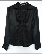 Koszula Bluzka Czarna Satyna Gotycka Goth 38 M