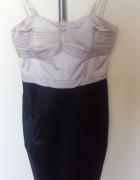 sukienka beżowo brązowa H&M...