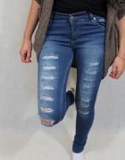 Niebieskie jeansowe rurki xs